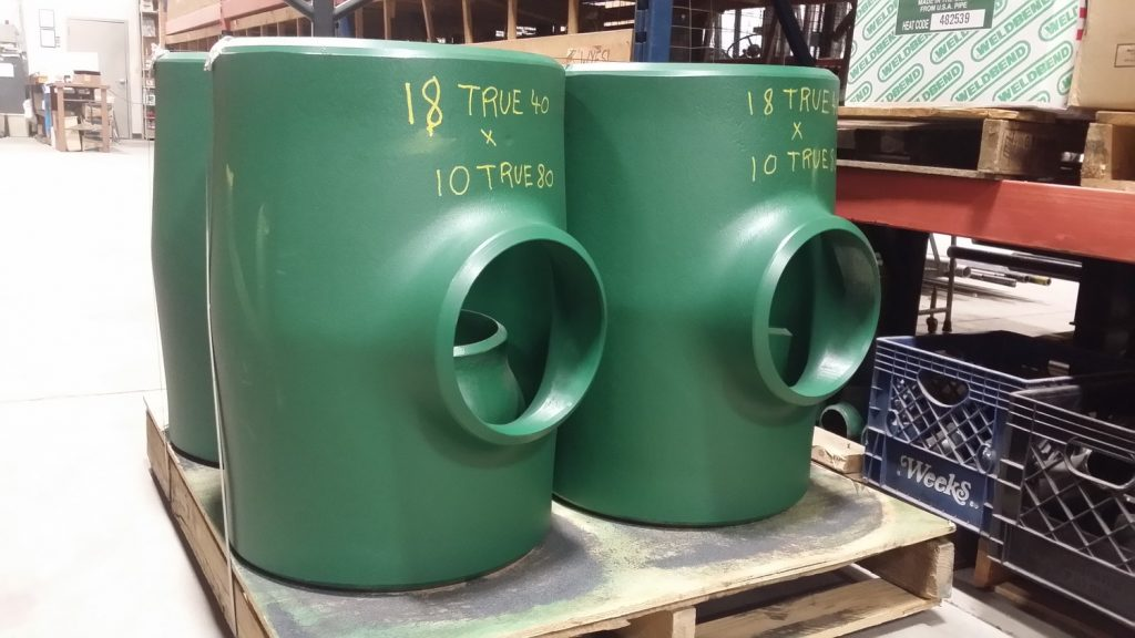 Domestic 18x10 BW Tees True Bore Fittings